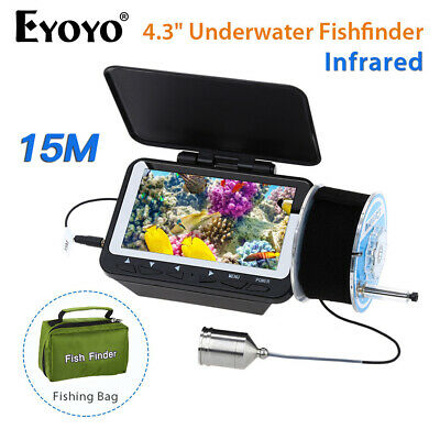 4.3  15M Fish Finder 8 Infrared LED HD 1000 TVL IP68 Waterproof For Ice Boat Sea • 67.87£
