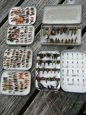 Vintage Wheatley  Fly Boxes  And Flies Rare • 300£