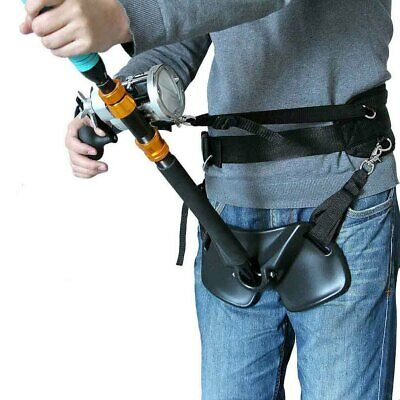 Boat Sea Fishing Waist Supprot Rod Holder Stand Up Adjustable Fighting Belt • 37.95£