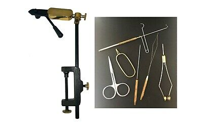 Quality Rotatable Side Lever Action Fly Tying Clamp Vice + 6 Pc Tool Set  • 32.99£