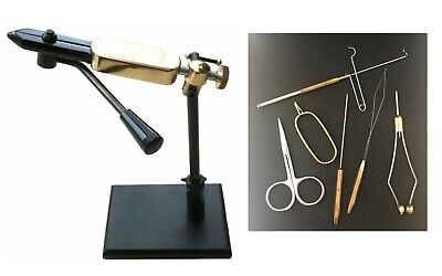 Quality Pedestal Rotatable Side Lever Action Fly Tying Vice + 6 Pc Tool Set  • 38.99£