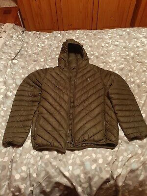 FOX Green / Silver Padded Jacket L   .Carp, Fishing. • 40£