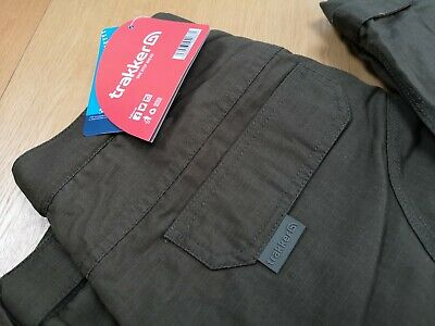 Trakker Ripstop Thermal Green Combats Trousers NEW *SIZE LARGE* • 49.99£
