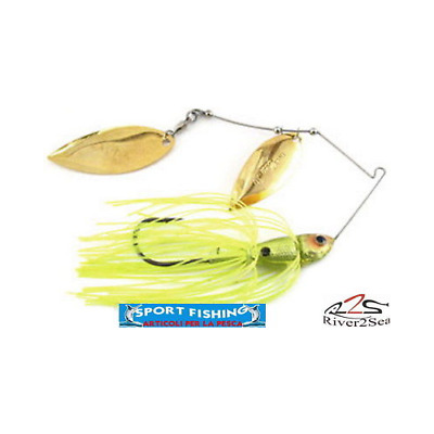 Crystal Spin RIVER2SEA 3/8 OZ 10.5GR Chartreuse • 9.05£