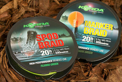 Korda Spod Or Marker Braid 20lb 300m NEW • 34.95£