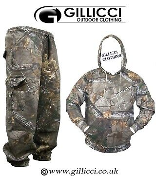 Unisex Jungle Print Camouflage Hunting/fishing Hoodie Suit With Or Without Zip • 23.95£