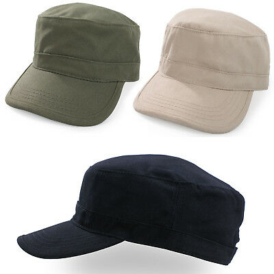 Military Hat Cap Army Cadet Men Women Casual BASEBALL Size Adjustable Strap  • 4.99£