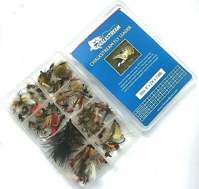 Assortment Fly Fishing Trout Flies. Wet, Dry, Nymph, Buzzers. 10,25,50,75 &100.  • 7.99£