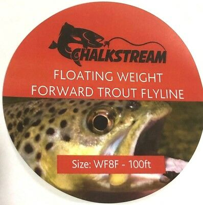 NEW!  Chalkstream  Weight Forward Floating TROUT Fly Fishing Line WF4F WT12F. • 9.95£