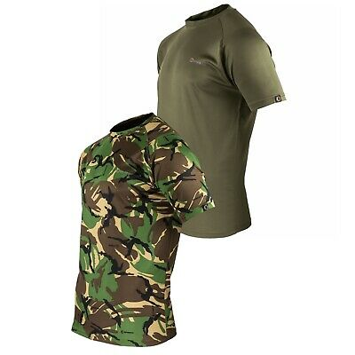 Speero T-Shirt Fishing Short Sleeve Top Green DPM Camo Outdoor Hunting Clothing • 12.95£