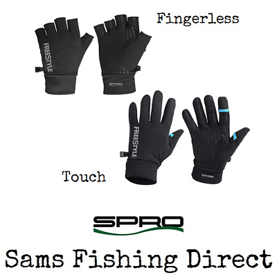 Spro Freestyle Touch / Fingerless Gloves Perch Pike Zander Lure Fishing • 14.95£