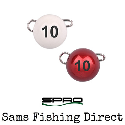 Spro Tungsten Bottom Jig Cheb Weights *Red/White All Sizes* Perch Lure Fishing • 6.49£