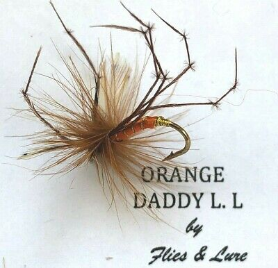 3,4 Or 6 Trout Fly Fishing DRY Flies. ORANGE DADDY LONG LEGS  • 1.49£