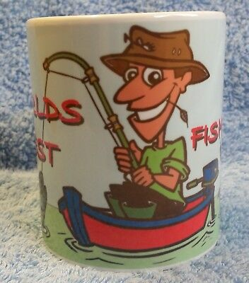 Worlds Best FISHERMAN - MUG Ideal Gift For The Keen Angler, Boat Fishing, Fish  • 6.99£