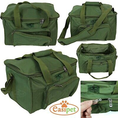 Carp Coarse Fishing Tackle Fish Bag Green Carryall Holdall Carry Strap Easipet  • 15.95£