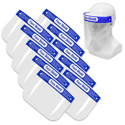 10pcs Full Face Shield Mask Clear Protective Film Flip Up Visor Safety Cover • 19.99£