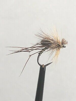 Yellow Owl Hopper CDC. (pack Of 3). Size 12 Barbless Hook. • 2.70£