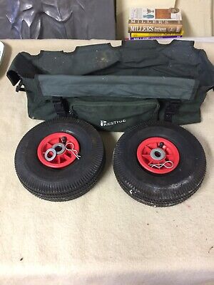 Prestige Fishing Barrow Spare Wheels And Bag (maybe Frame - See Listing) • 9.99£