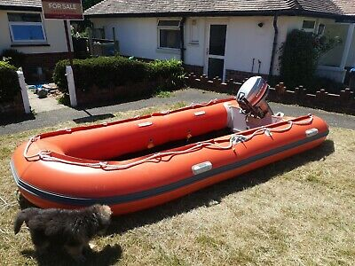 Inflatable Boat With Outboard • 2,000£