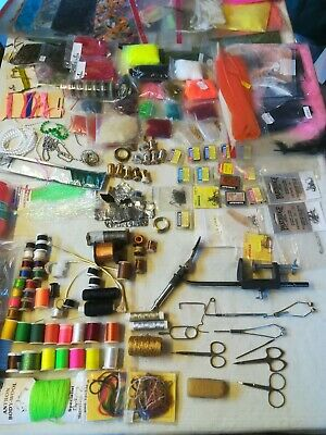 Job Lot Fly Tying Vice, Tools And Various Hooks, Materials,  • 21£
