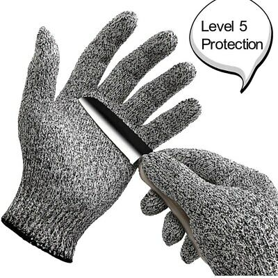 1 Pair Cut-proof Outdoor Fishing Hunting Gloves Full Finger Level 5 Protection • 5.39£