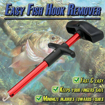 Easy Fish Hook Remover Disgorger Detacher T Bar Fishing Tackle Tool Portable UK • 4.99£