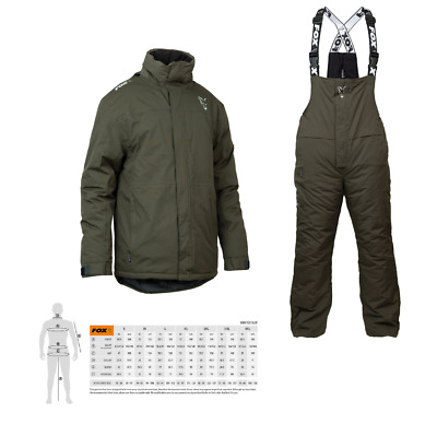 Fox Carp Green & Silver Winter Suit New Version Carp Fishing Thermal Suit • 131.85£