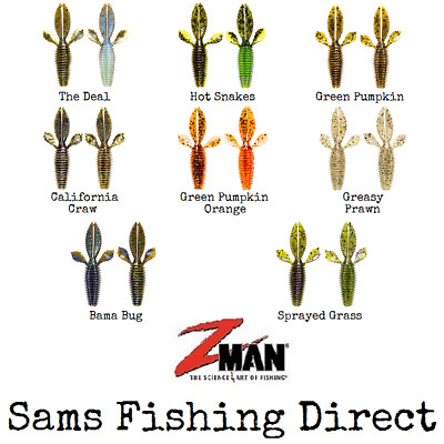 Z-Man BugZ 2.75  Creature Bait Ned Rig Perch Lure Fishing *NEW 2019* • 6.49£