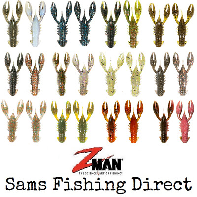 Z-Man TRD CrawZ 2.5  Perch Lure Crayfish Creature Bait *NEW 2019 COLOURS ADDED* • 6.49£