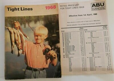 Tight Lines ABU Fishing Cataglogue 1968 With Price List Vg Condition Aa4  • 19.99£