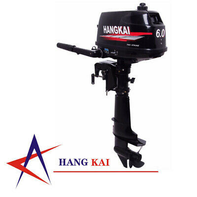 6HP 2Stroke Outboard Motor Fishing Boat Motor Engine Water Cooling 102CC 4400W  • 406£