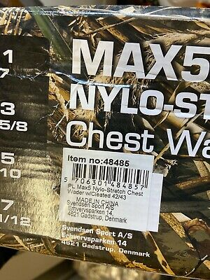 Pro Logic Camo Max 4 Nylon Stretch Chest Waders Cleated Soles 42/43 UK 8/9 • 20£