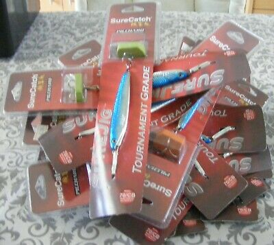 Pike And Sea Fishing Joblot Surecatch Pilchard Lures X20 Weight 20g-70g • 19.99£