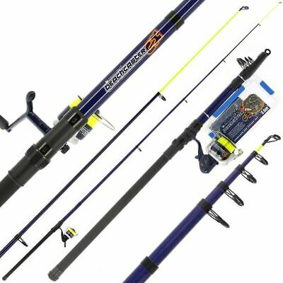 Angling Pursuits Telescopic Beachcaster Combo Set - Fishing Starter Set • 39.95£