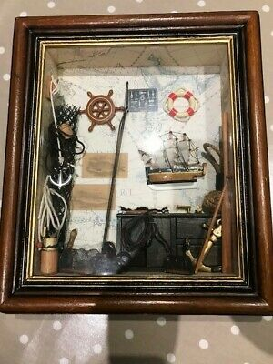 Fishing Angling Sailing Anchors Nets Wooden Framed Diorama 3D Wall Art Picture • 20£