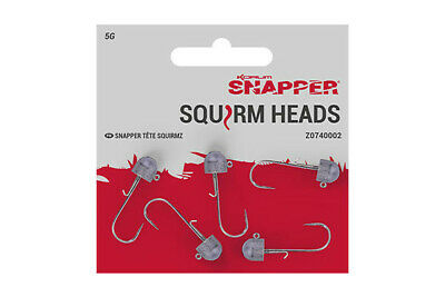 Korum Snapper Squirm Heads Pack Of 5 • 3.99£