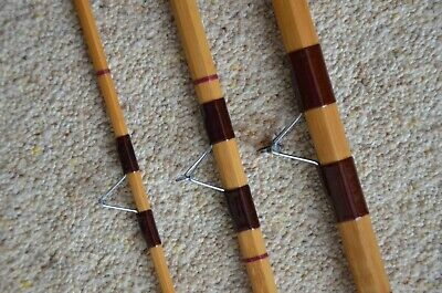Vintage 11ft 3 Piece Split Cane Avon Style Fishing Rod Refurbished Fine • 48£