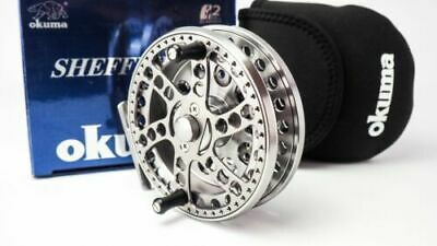 Okuma Sheffield S1002 Centre Pin Reel In Silver WITH REEL POUCH - 20504 • 165£