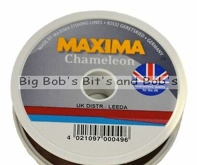 New MAXIMA Chameleon Fishing Line 100m 3 4 5 6 8 10 12 15lb Brown Mono UK • 5.49£
