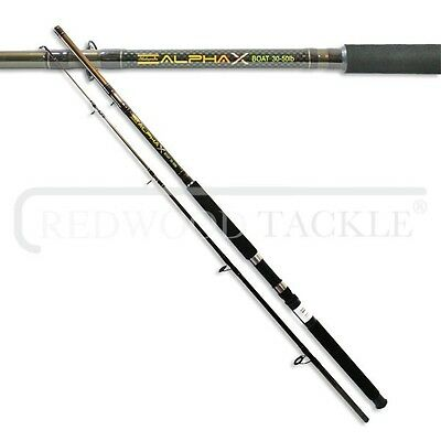 Shakespeare Alpha X Boat/Sea Fishing Rod  30-50LB Class 7 Ft • 21.12£