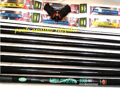 8m Starter Fishing Pole 18 Elastic Fitted Roller & Rigs • 53.75£