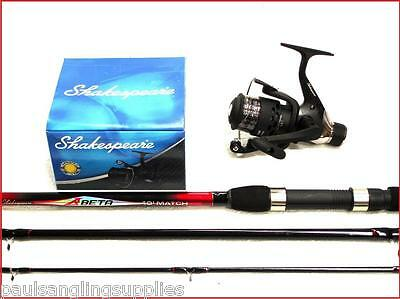 Shakespeare Beta Float / Match 10 Ft Fishing Rod + Beta FD Reel With Line • 43.51£