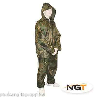 Camo Fishing Oversuit Jacket & Trousers Clothing. Adult Size Extra Large • 17.73£