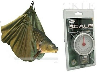 BRAND NEW  Coarse Carp Fishing Weigh Weighing Sling + 50LB Scales  • 15.86£