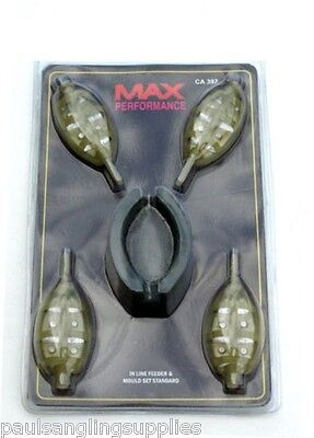 Max Performance  Carp  Feeders 4 Assorted With Mould CA392 • 10.70£