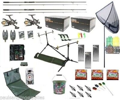 Shakespeare  Full Carp Fishing Set  Kit Rods Reels Alarms Baits.  • 181.99£