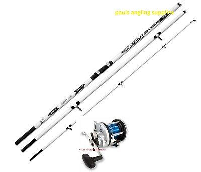 Lineaeffe Shizuka 14ft Beachcaster Beach Sea Fishing Rod & Multiplier Reel • 63.39£