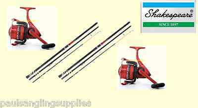 2 X Shakespeare Omni 13ft Beachcasting Fishing Rods & Ocean Large  Reels & Line • 97.01£