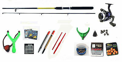 Starter Coarse & Float Fishing Kit/ Set  Rod Reel ,floats, Shot ,catapult • 29.01£