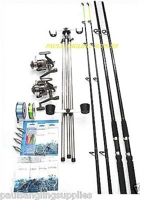 Sea Fishing Kit Shakespeare 12ft Beta Rods And Beta Reels Beach Fishing Combo  • 131.71£